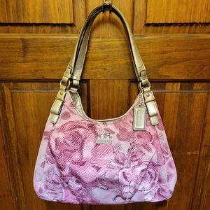 Coach Maggie Madison Pink Floral Shoulder Hobo Bag Limited Edition 19642